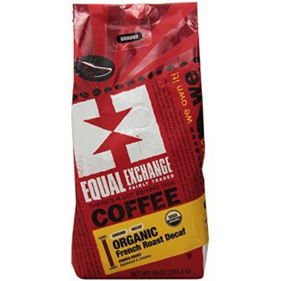 Equal Exchange Organic French Roast Decaf Ground Coffee, 10 Ounce