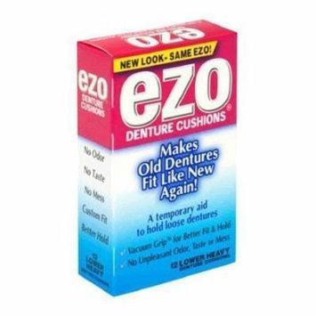 Ezo Denture Cushions, Lower Heavy, 15 Cushions (Pack of 12)