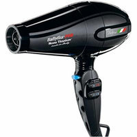 Babyliss 2000 Watt Nano Titanium Portofino Hair Dryer with ITALIAN AC Motor, 6 Heat/Speed Settings with True Cold Shot Button, BONUS FREE Diffuser and Three Concentrator Attachments