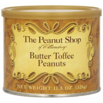 The Peanut Shop of Williamsburg Butter Toffee Peanuts, 11.5 Ounce