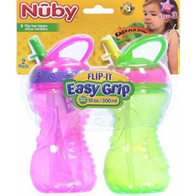 Nuby Flip-It Sippers 2-Pack - fuchsia, one size