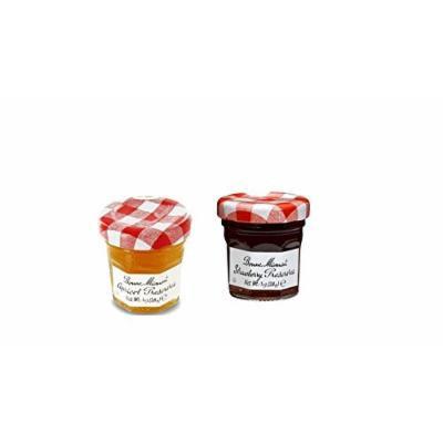 Bonne Maman Duo Mini Jars - 1 Oz X 30 Pcs (15 Strawberry, 15 Apricot)