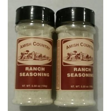Amish Country Popcorn Ranch Seasoning 2/5.5 Oz Shakers Total 11 Ounces