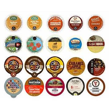 Custom Variety Pack Sampler Flavored Coffee, Single Serve Cups for Keurig K Cup Brewers , 20 count