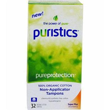 Puristics Super Plus Tampons - Non-Applicator - 100% Organic Cotton