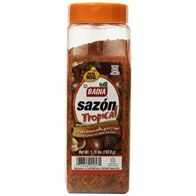 Badia Sazon Tropical Seasoning with Annatto and Coriander, 1.75 Pound (Pack of 6)