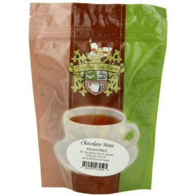 English Tea Store Chocolate Mint Flavored Black Teabags, 25 Count