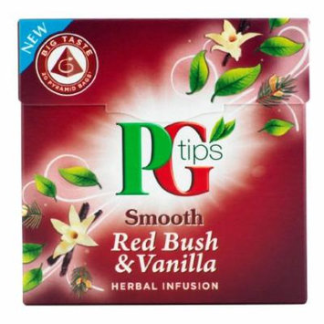 Pg Tips Smooth Red Bush & Vanilla Herbal Infusion 20 Pyramid Bags (Pack of 4)