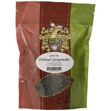 English Tea Store Loose Leaf, Gunpowder Green Tea Pouches, 4 Ounce