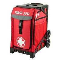 Zuca First Aid roller bag (red frame)