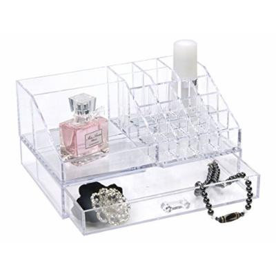 Rucci Acrylic Cosmetic Organizer with Jewelry Box