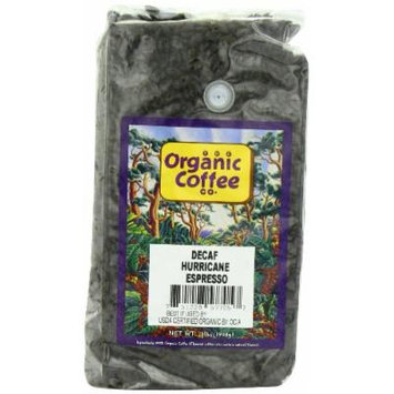 The Organic Coffee Co. Whole Bean, Decaf Hurricane Espresso, 32 Ounce