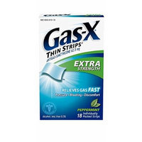 Gas-X Thin Antigas Extra Strength Strips, Peppermint, 18 Count