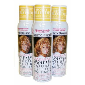 Jerome Russell Hair Color Sprays - Natural Color Highlights 3.5 oz - 3 Cans (Honey Blonde)