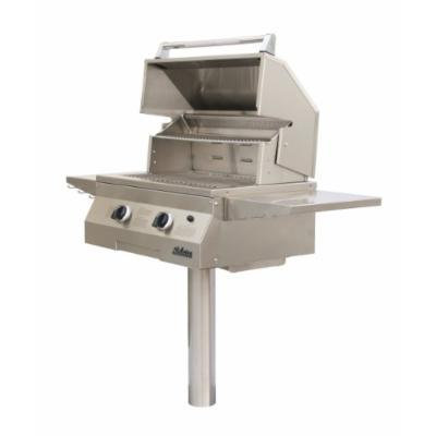 Solaire 27-Inch Basic InfraVection Natural Gas In-Ground Post Grill, Stainless Steel