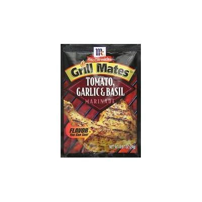 McCormick Grill Mates Tomato, Basil & Garlic Marinade, .87 Oz. Packet (4 Pack)
