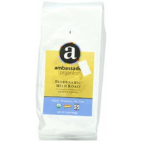 Ambassador Organics Biodynamic Mild Roast Ground Organic Coffee, 12-Ounce Bags (Pack of 2)