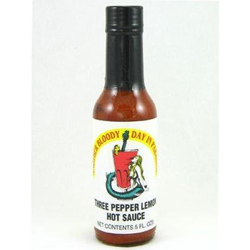 Another Bloody Day in Paradise (Three Pepper Lemon) Hot Sauce. (3 Pack)