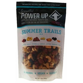 NEW Gourmet Nut Power Up Trail Mix SUMMER TRAILS MIX A Delicious Blend of Fruit and Nuts.
