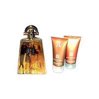 Pi By Givenchy For Men. Gift Set ( Eau De Toilette Spray 3.3 Oz & Aftershave Balm 1.7 Oz + All Over Shampoo 1.7 Oz)