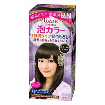 Kao , Liese Prettia AWA Hair Color KAMI IRO MODOSHI for 1week , Natural Black