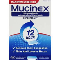Mucinex Maximum Strength Extended-Release Bi-Layer Tablets, 2x42 Count