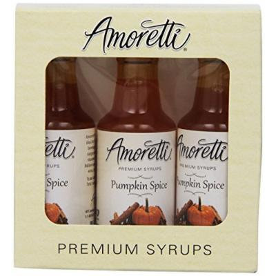 Amoretti Premium Pumpkin Spice Syrups 50ml 3 Pack