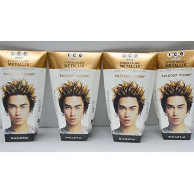 Joico ICE Hair - Spiker Colorz - Colored Styling Glue - Twisted Copper 1.7oz (4 Pack)