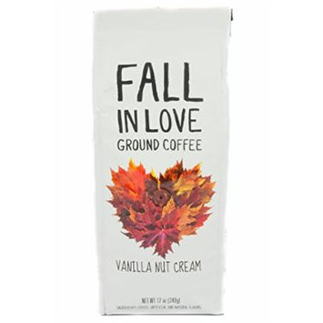 Fall In Love Vanilla Nut Cream Ground Coffee, 12 oz (Pack of 2)