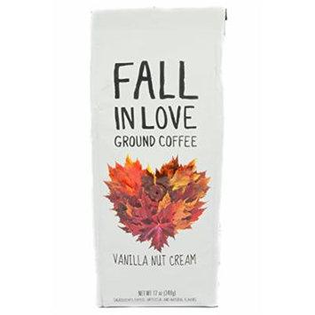 Fall In Love Vanilla Nut Cream Ground Coffee, 12 oz (Pack of 2)
