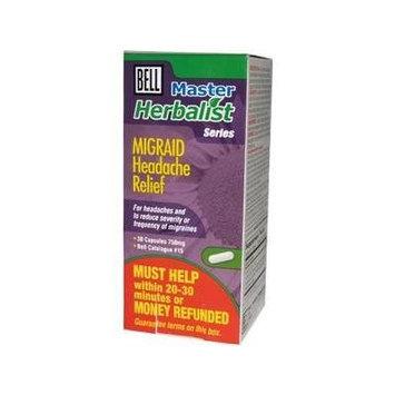 Migraid Headache* (30Capsules)* Migraine Brand: Bell