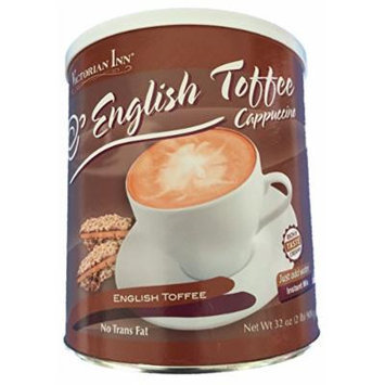 Victorian Inn Instant Cappuccino, English Toffee, 32-ounce Canister