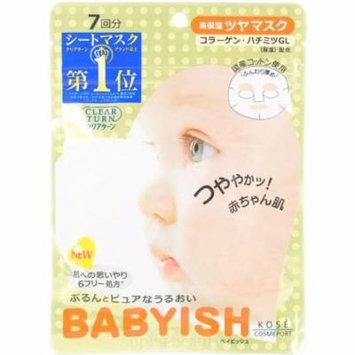 Kose Japan Clear Turn Babyish Moisture Rich Face Mask (7 Sheets/83ml)