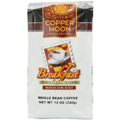 Copper Moon Breakfast Blend Coffee, Whole Bean, 12-Ounce Bags (Pack of 3)
