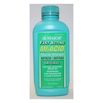 Mi-Acid Liquid Antacid / Antigas Regular Strength 12 Fl Oz. (12 Oz.)
