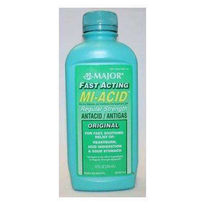 Mi-Acid Liquid Antacid / Antigas Regular Strength 12 Fl Oz. (12 Oz.)