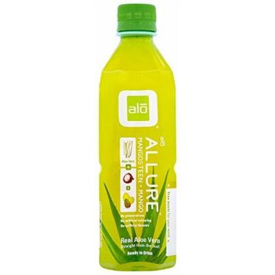 ALO - Original Aloe Drink Allure Aloe + Mangosteen + Mango - 16.9 oz. (Pack of 3)