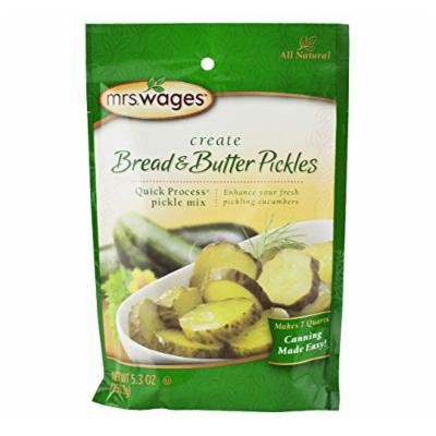 Mrs. Wages Bread & Butter Pickle Mix, 5.3 Oz. Package