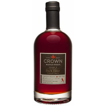 Organic Crown Maple Syrup - Dark Color and Robust Taste (750mL)