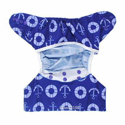 1 Cloth Diaper Cover Snap Adjustable Waterproof Nappy Cover Double Gussets Navy
