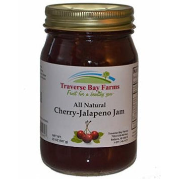 Traverse Bay Farms All Natural Cherry Jalapeno Jam (Cherry Pepper Jelly)