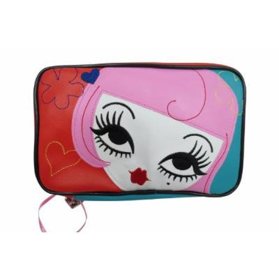 Fluff Lolita Tokyo Girl Kiss Kiss Face Makeup Bag