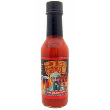 Burn in Hell Osama Pure Evil Hot Sauce 5oz Bottle