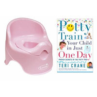 Summer Infant Lil' Loo Potty with Potty Train Your Child in Just One Day Guide Book, Pink
