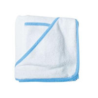 Scene Weaver Baby Hooded Towel - White with Blue Trim