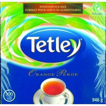 Tetley Tea, Orange Pekoe, Food Service Size 300-Count 945g Tea Bags