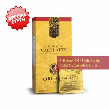 2 Boxes Organo Gold Gourmet Cafe Latte Free 2 Sachets Gano Excel 3 in 1