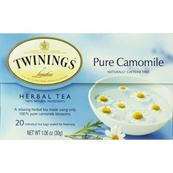 Twinings Herbal Tea, Chamomile, Honey & Vanilla, 20 Count Bagged Tea (6 Pack)