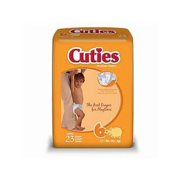 Cuties Premium Baby Diapers, Size 6 23 Ea Pack of 2