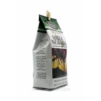 Hawaiian Isles Kona Coffee Ground Vanilla Macadamia 10 oz. Bag Decaf